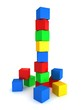 children's toy colorful cube tower