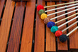 Coloured mallets on marimba - 37580385