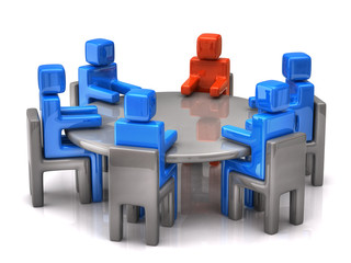3d illustration of business meeting
