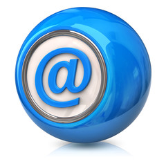 Blue E-mail icon
