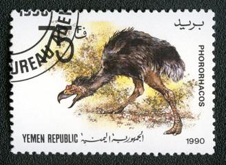 YEMEN REPUBLIC - CIRCA 1990: A stamp printed in Yemen shows Phor