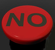 No Button As Symbol For Danger Or Negativity