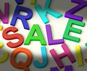 Letters Spelling Sale As Symbol for Discounts And Promotions