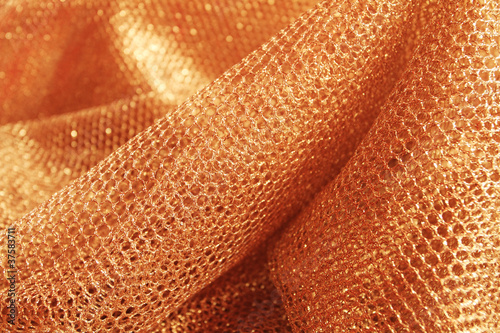 lustrous elegant golden fabric