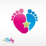 Fototapety logo naissance/bébé