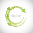 Green Arrows Background # Vector