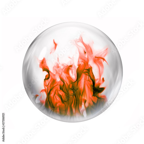 burning gas bubble