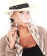 Frau mit elektrischer Zigarette