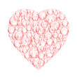 pink bubble heart