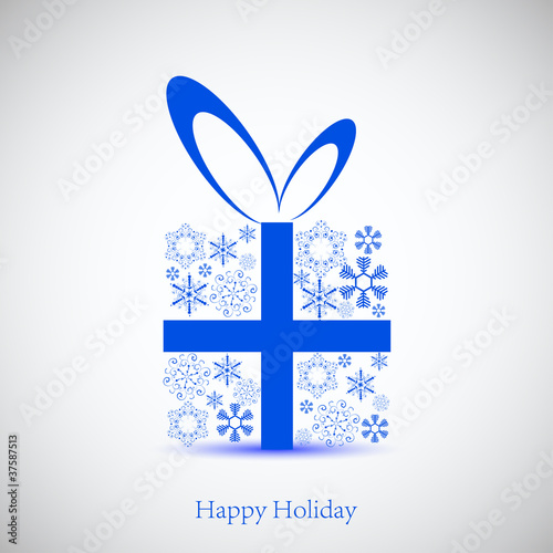 cnowflakes gift for your holiday. Vector background