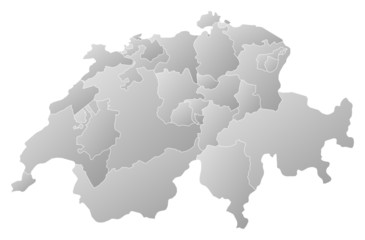 Map of Swizerland