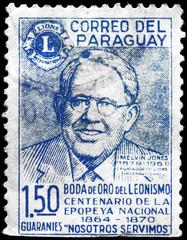 PARAGUAY - CIRCA 1967 Melvin Jones