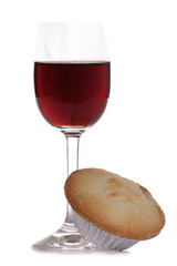Christsmas sherry and mince pie