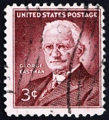 Postage stamp USA 1954 George Eastman