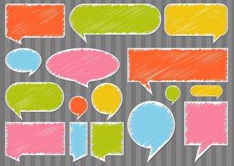 Colorful speech bubbles and balloons illustration