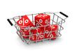 Die Prozente im Einkaufskorb