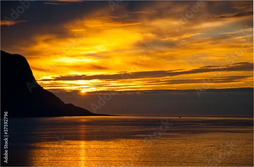 Puesta de sol noruega