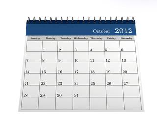 Calendar October 2012