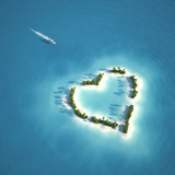 Fototapety paradise heart shaped island