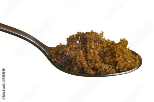 Brown sugar in a spoon