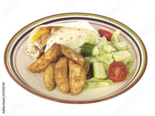Chicken Fajitas with Potato Wedges