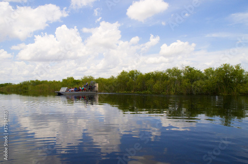 Airboat in the Everglades Florida USA
