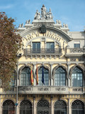 Palace Of The Barcelona Port Authority, Spain poster