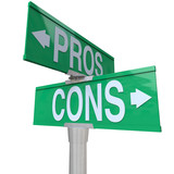 Pros and Cons Two-Way Street Signs Comparing Options poster
