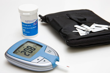 Glucose Meter, Test Strips and Case