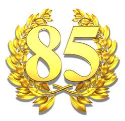 85 eightyfive number laurel wreath