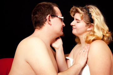 Mann und Frau beim Vorspiel