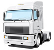 Vector isolated white truck without gradients
