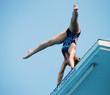 Young Woman Platform Diver