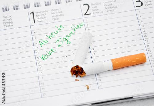 Ab heute keine Zigaretten Termin im Kalender notiert