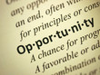 "Focus on the word ""Opportunity"""