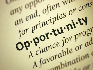 """Focus on the word """"Opportunity"""""""