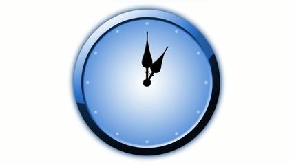 Cool Blue Uhr Animation 12 Stunden in 60 Sekunden