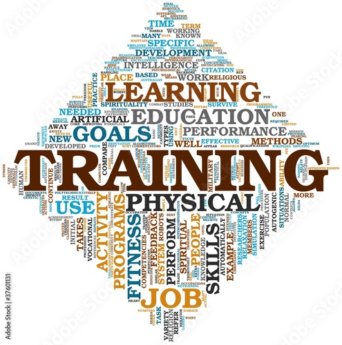 Training concept in tag cloud