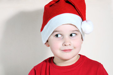 Beautiful child with Christmas hat