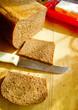 Cooking the sandwiches of rye bread