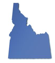 Karte von Idaho - USA
