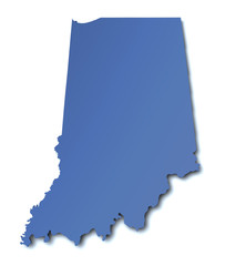 Karte von Indiana - USA