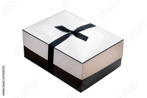 Black and White Parcel with Bow