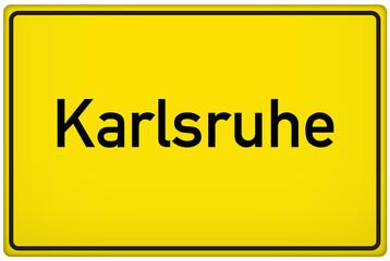 Ortseingangsschild der Stadt Karlsruhe