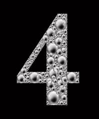 figure 4 bubble font
