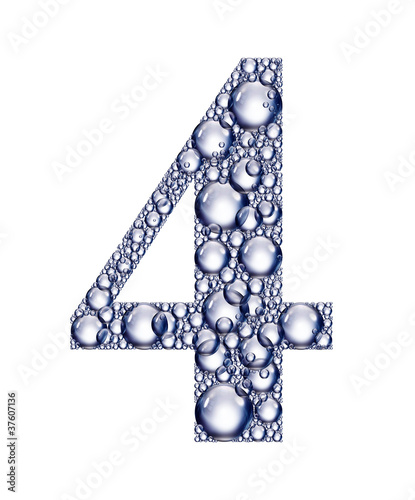 number four bubbles