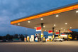 canvas print picture - gas station