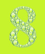 green eight bubbles