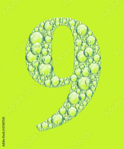 green nine bubbles