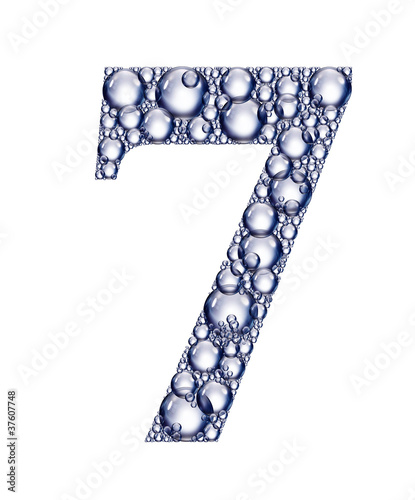number seven bubbles
